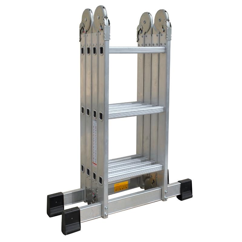 pro bau tec aluminium vielzweck leiter 4 x 3 sprossen mit arbeitsplat. Black Bedroom Furniture Sets. Home Design Ideas