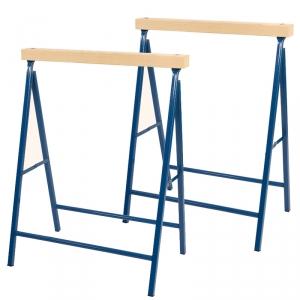 Pro Bau Tec 2x pro bau tec metall klappbock blau 100 kg mit holzauflage 2 st uum
