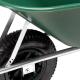 pro-bau-tec Gartenschubkarre 100 l mit grüner Kunststoffmulde