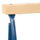 2x pro-bau-tec Metall-Klappbock BLAU 100 KG mit Holzauflage (2 STÜCK)