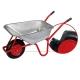 pro-bau-tec Garten- & Bauschubkarre 100 l mit pannenfreiem PU-Rad auf Stahlfelge