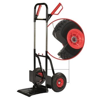 pro-bau-tec PU-1-2-3 Profi-Stapelkarre 200 kg mit PU-Reifen