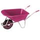 pro-bau-tec Gartenschubkarre 100 l mit pinker Kunststoffmulde