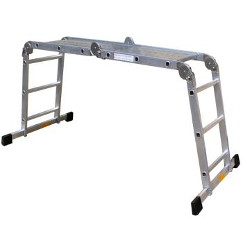 pro-bau-tec Aluminium-Vielzweck-Leiter 4 x 3 Sprossen mit...
